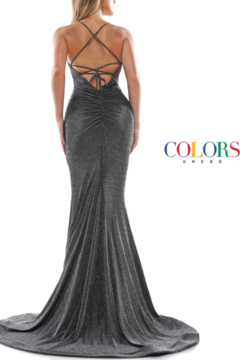 colors Charcoal Glitter Gown - Alternate List Image