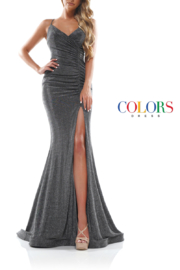 colors Charcoal Glitter Gown - Product Mini Image