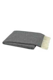 The Birds Nest CHARCOAL ITALIAN HERRINGBONE THROW - Product Mini Image
