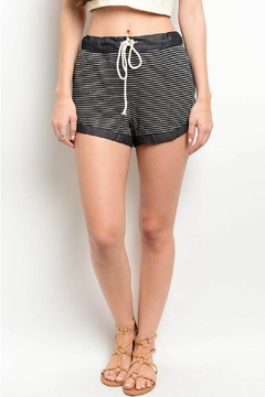 may & july Charcoal Ivory Shorts - Product List Image