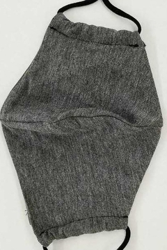 Shoptiques Product: Charcoal Knit Adult Face Mask with Filter Pocket