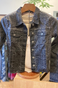 Bianco Jeans Charcoal Leopard Print Jacket - Product List Image