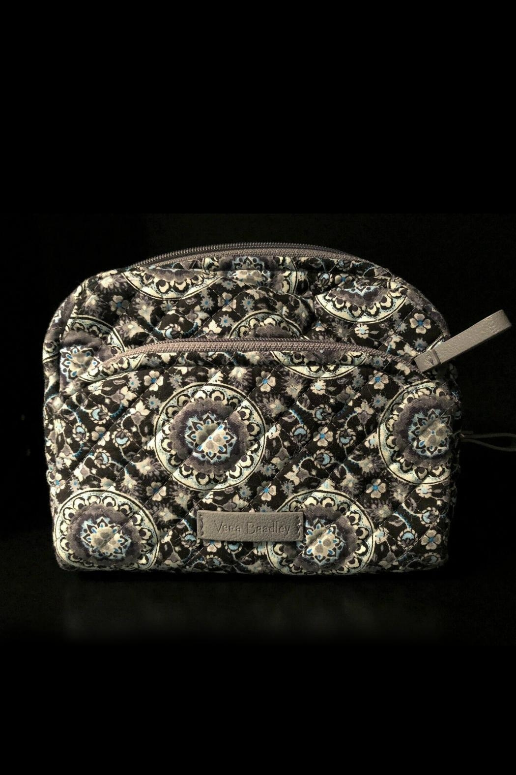 Vera Bradley Charcoal Medallion Medium-Cosmetic - Front Cropped Image