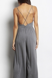 Mod Ref Charcoal Modal Jumpsuit - Back cropped