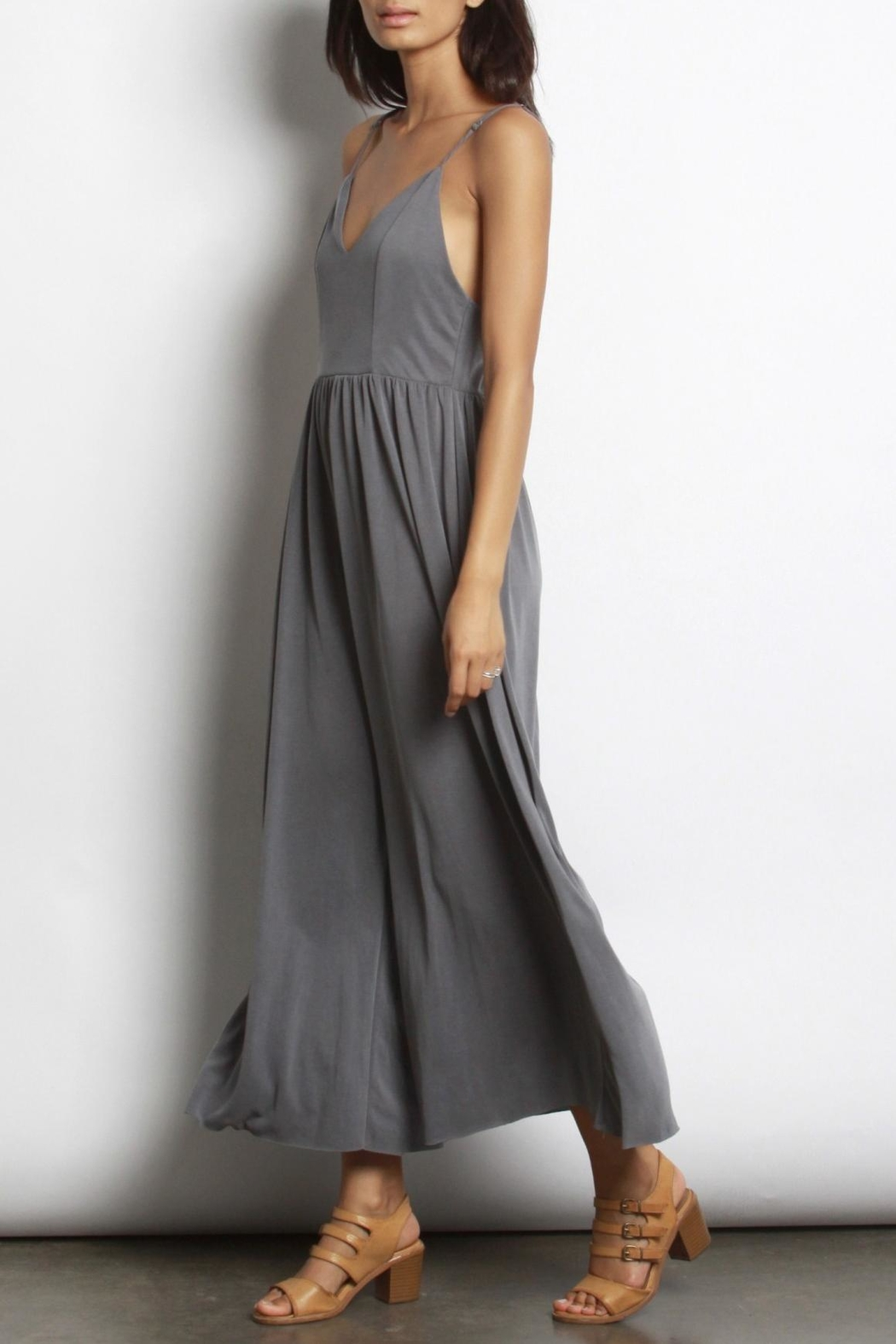Mod Ref Charcoal Modal Jumpsuit - Front Full Image
