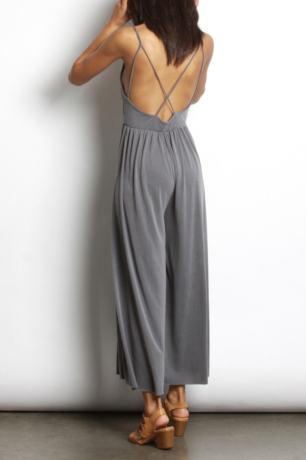 Mod Ref Charcoal Modal Jumpsuit - Side Cropped Image