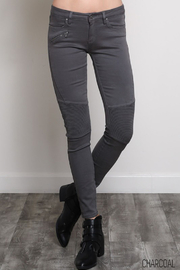 Wishlist Charcoal Moto Jeans - Product Mini Image