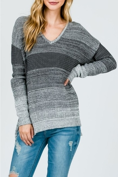 Sweet Generis Charcoal Ombré Sweater - Product List Image