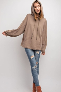 Polly & Esther Charcoal Oversized Hoodie - Alternate List Image