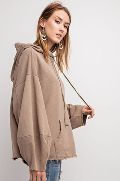Shoptiques Product: Charcoal Oversized Hoodie