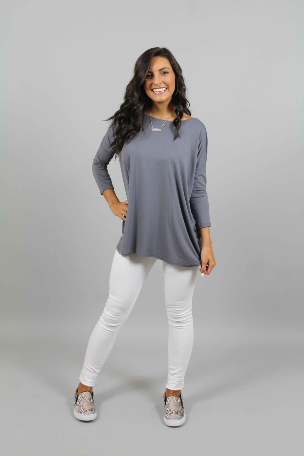 piko charcoal top from north carolina by ivy and leo shoptiques