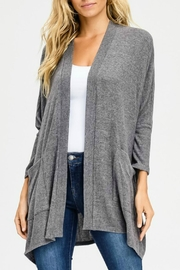 Cherish Charcoal Pocketed Cardigan - Product Mini Image