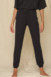 By Together  Charcoal Ribbed Joggers - Product Mini Image