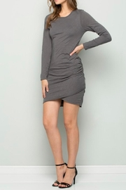 Wasabi + Mint Charcoal Ruched Dress - Product Mini Image
