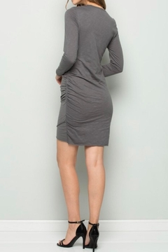 Wasabi + Mint Charcoal Ruched Dress - Alternate List Image