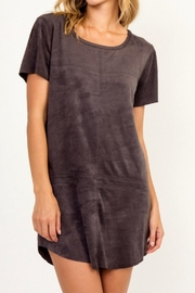 Olivaceous Charcoal Suede Dress - Product Mini Image