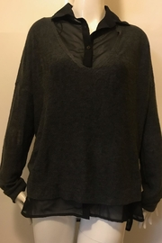 RD Style Charcoal Sweater Button-Top - Product Mini Image