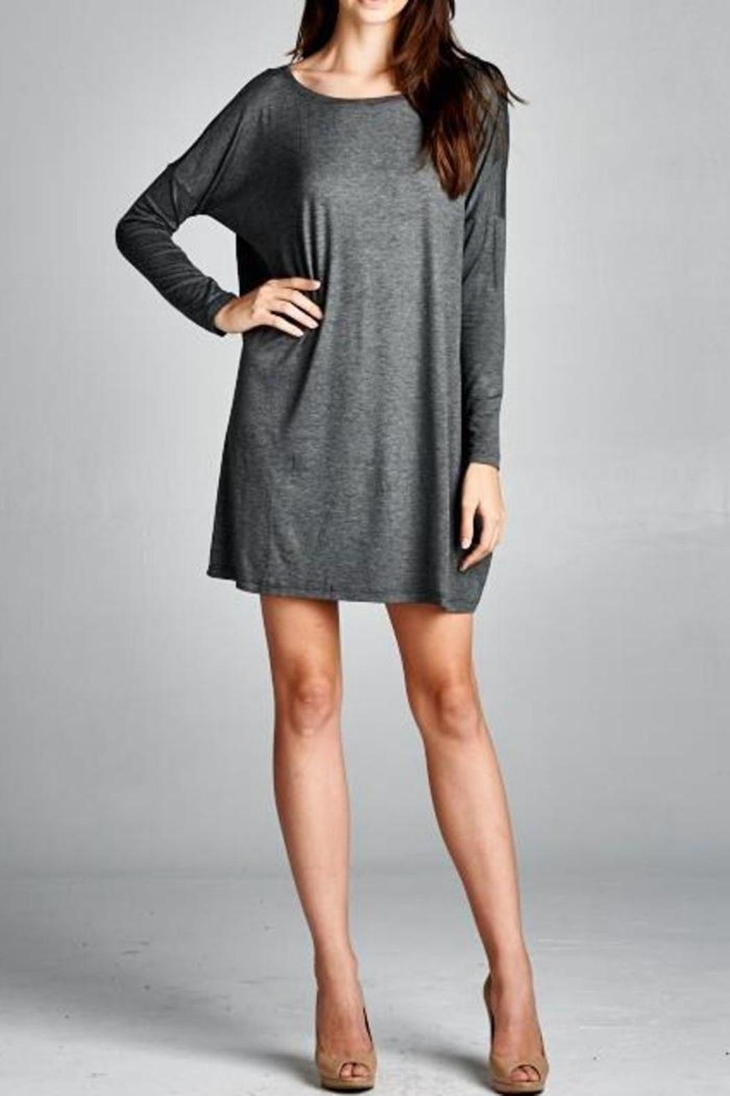 charcoal t shirt dress from laredo by dollz boutique