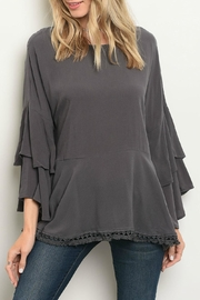 Very J Charcoal Top - Product Mini Image