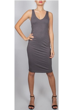 Final Touch Charcoal V-Neck Bodycon - Product List Image