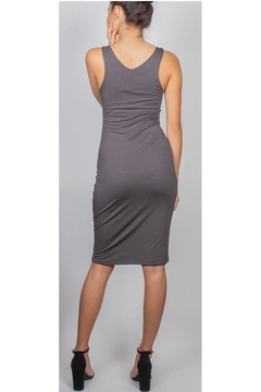 Final Touch Charcoal V-Neck Bodycon - Alternate List Image