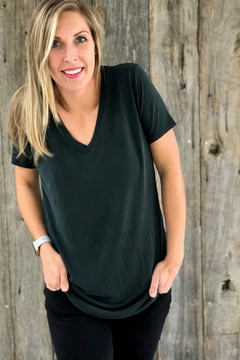 Another Love Charcoal Vneck Tee - Product List Image