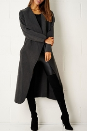 frontrow Charcoal Waterfall Coat - Product Mini Image
