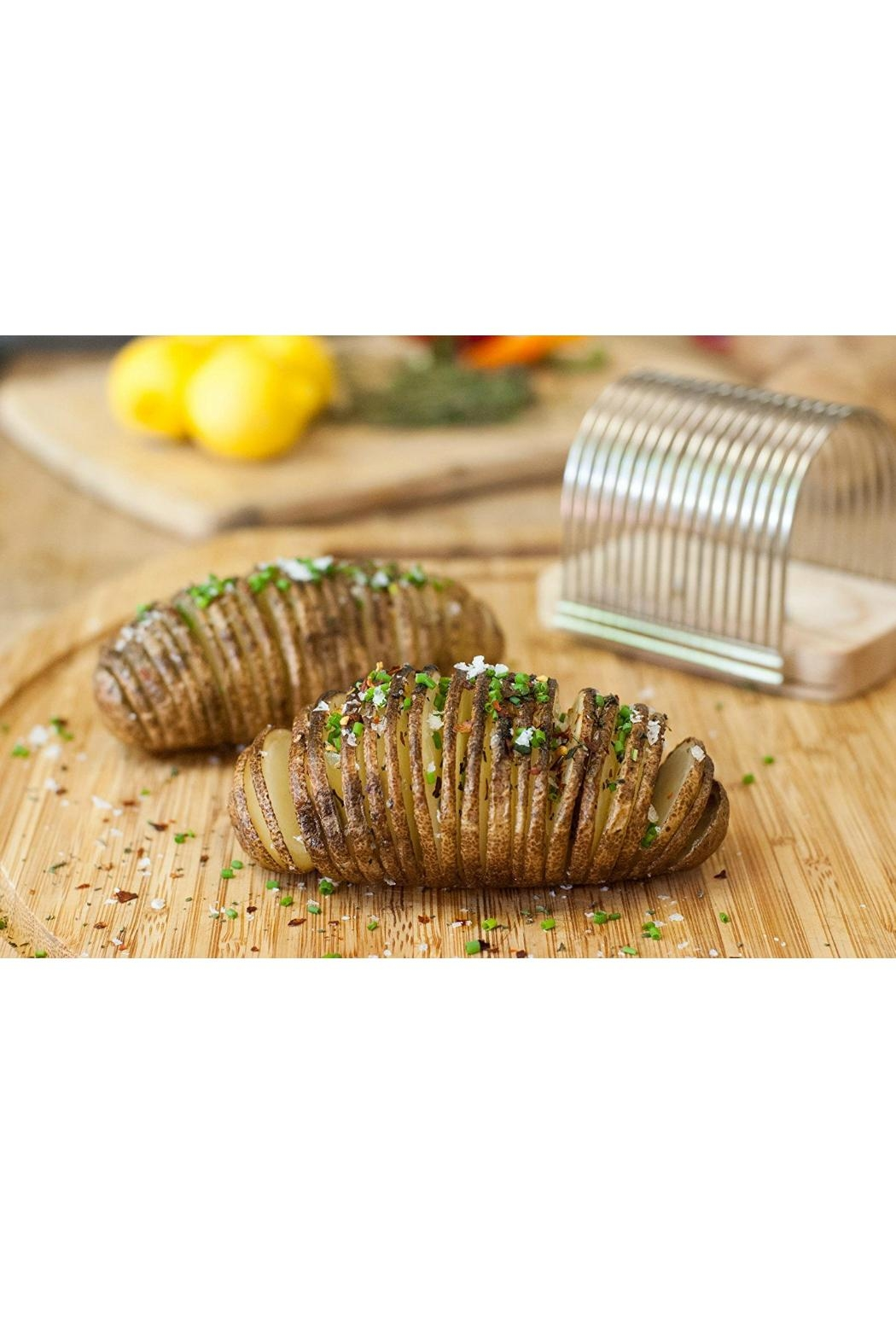 Charcoal Companion Hasselback Slicing Rack - Front Full Image