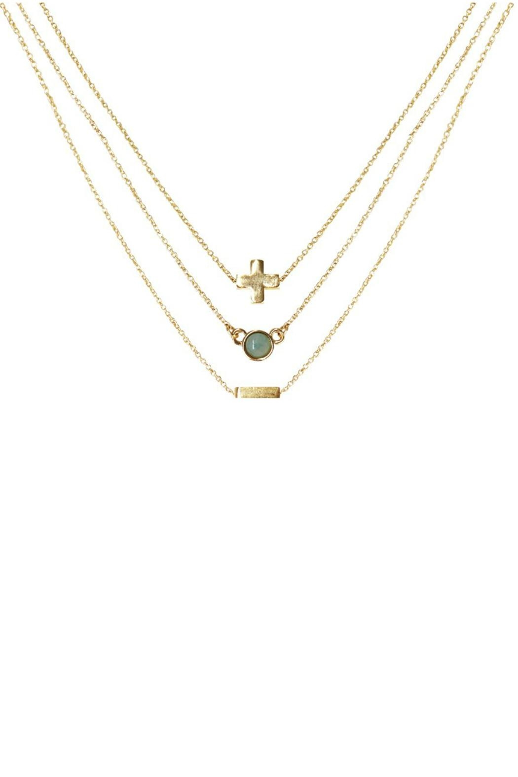 CHARGED Amazonite Layered Necklace - Front Full Image