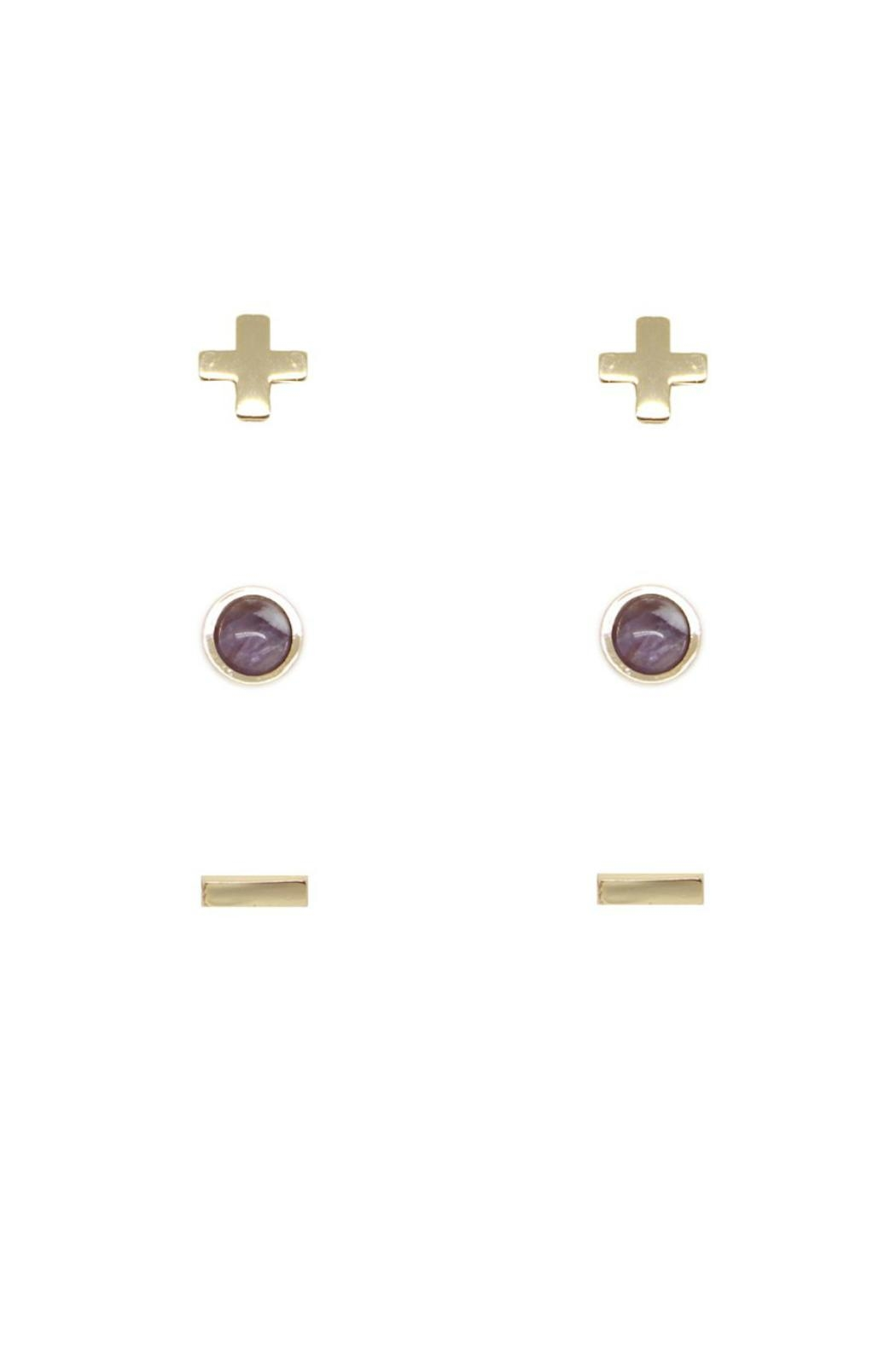 CHARGED Amethyst Earring Set - Front Full Image