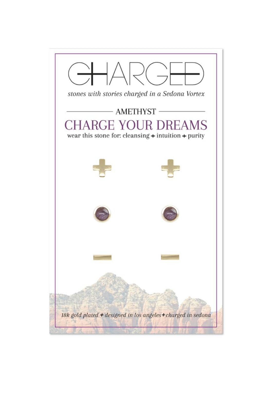 CHARGED Amethyst Earring Set - Main Image