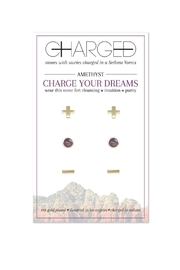 CHARGED Amethyst Earring Set - Product Mini Image
