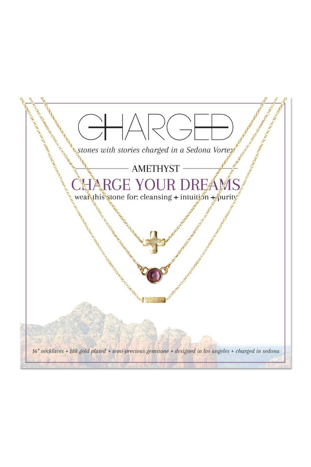 CHARGED Amethyst Layered Necklace - Main Image