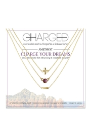 CHARGED Amethyst Layered Necklace - Product Mini Image