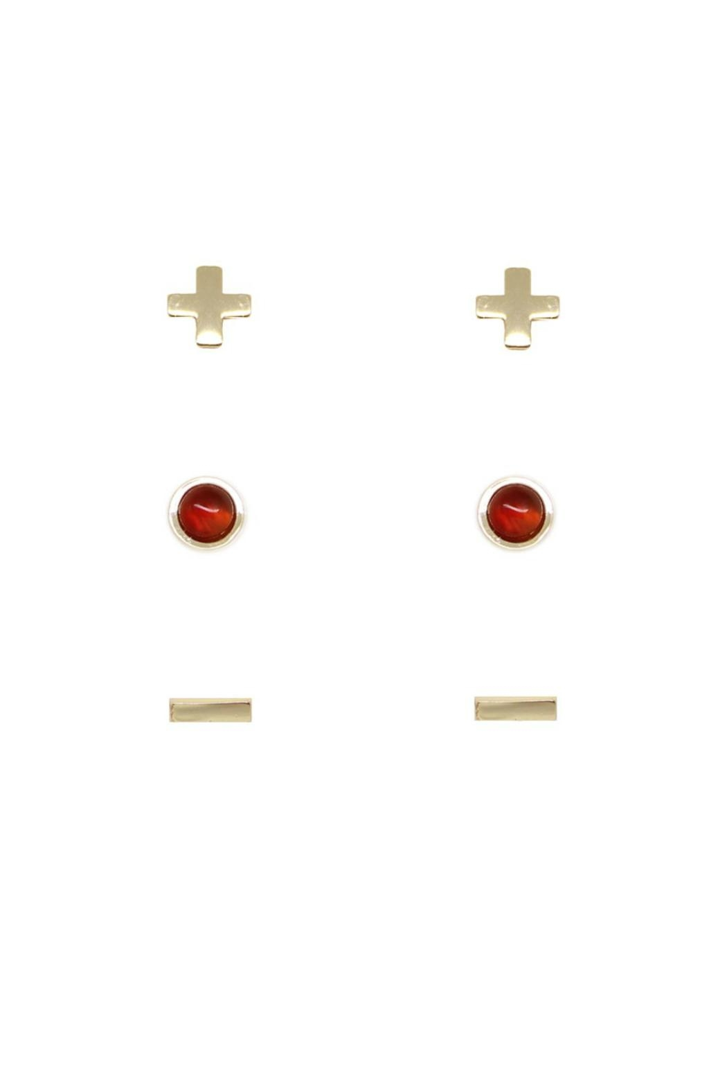 CHARGED Carnelian Earring Set - Front Full Image