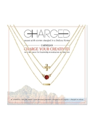 CHARGED Carnelian Layered Necklace - Product Mini Image