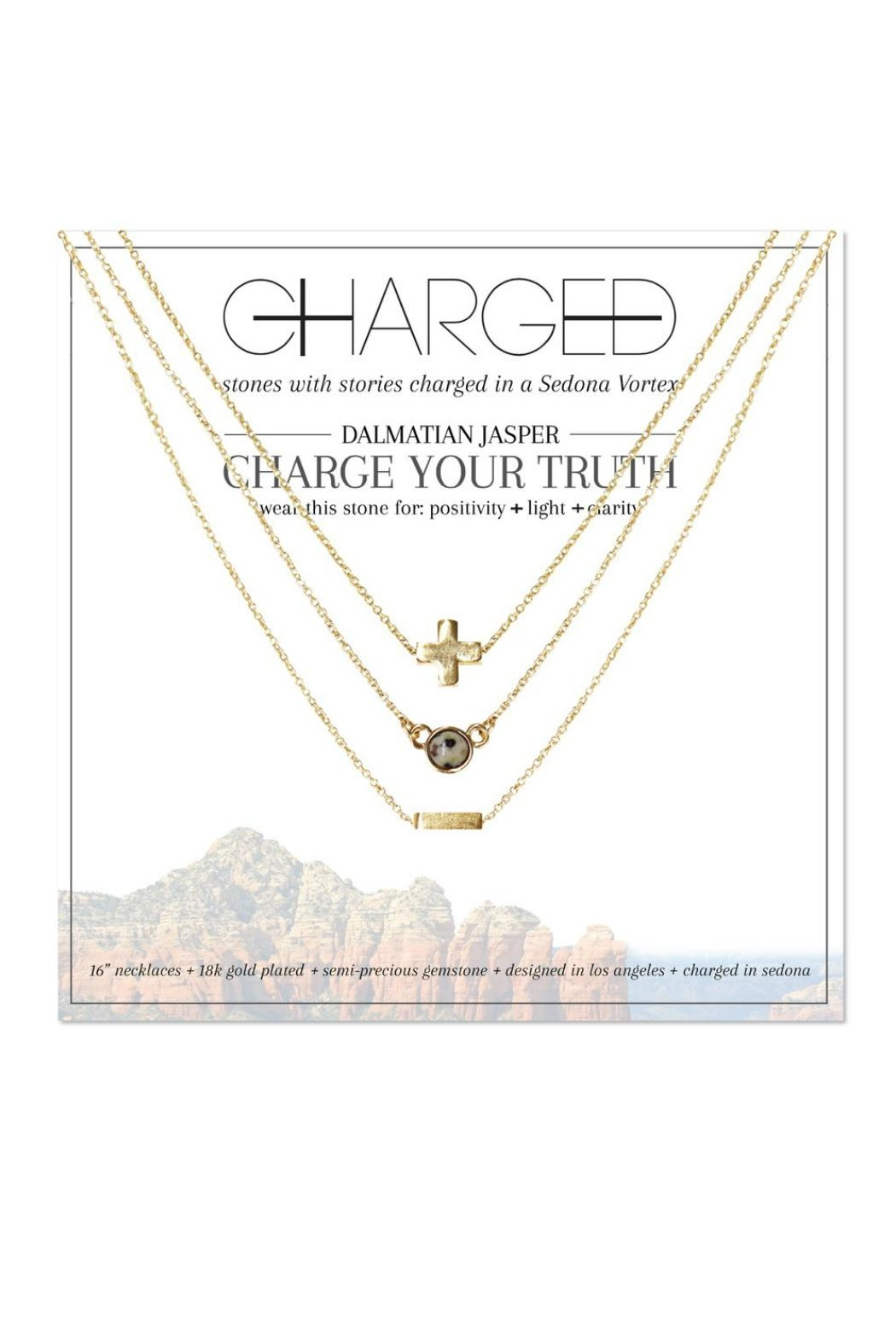 CHARGED Dalmatian Layered Necklace - Main Image