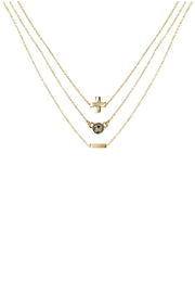 CHARGED Dalmatian Layered Necklace - Front full body