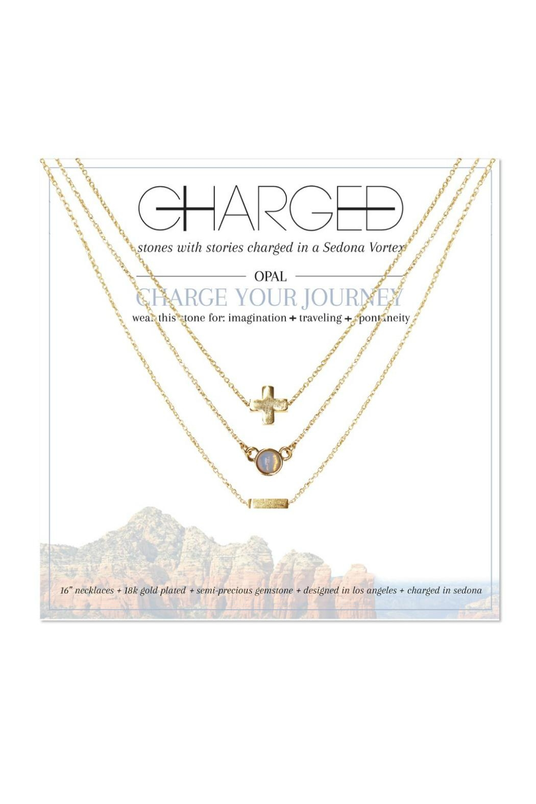 CHARGED Opal Layered Necklace - Main Image