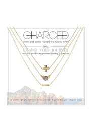 CHARGED Opal Layered Necklace - Front cropped
