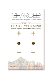 CHARGED Tiger's Eye Earrings - Product Mini Image