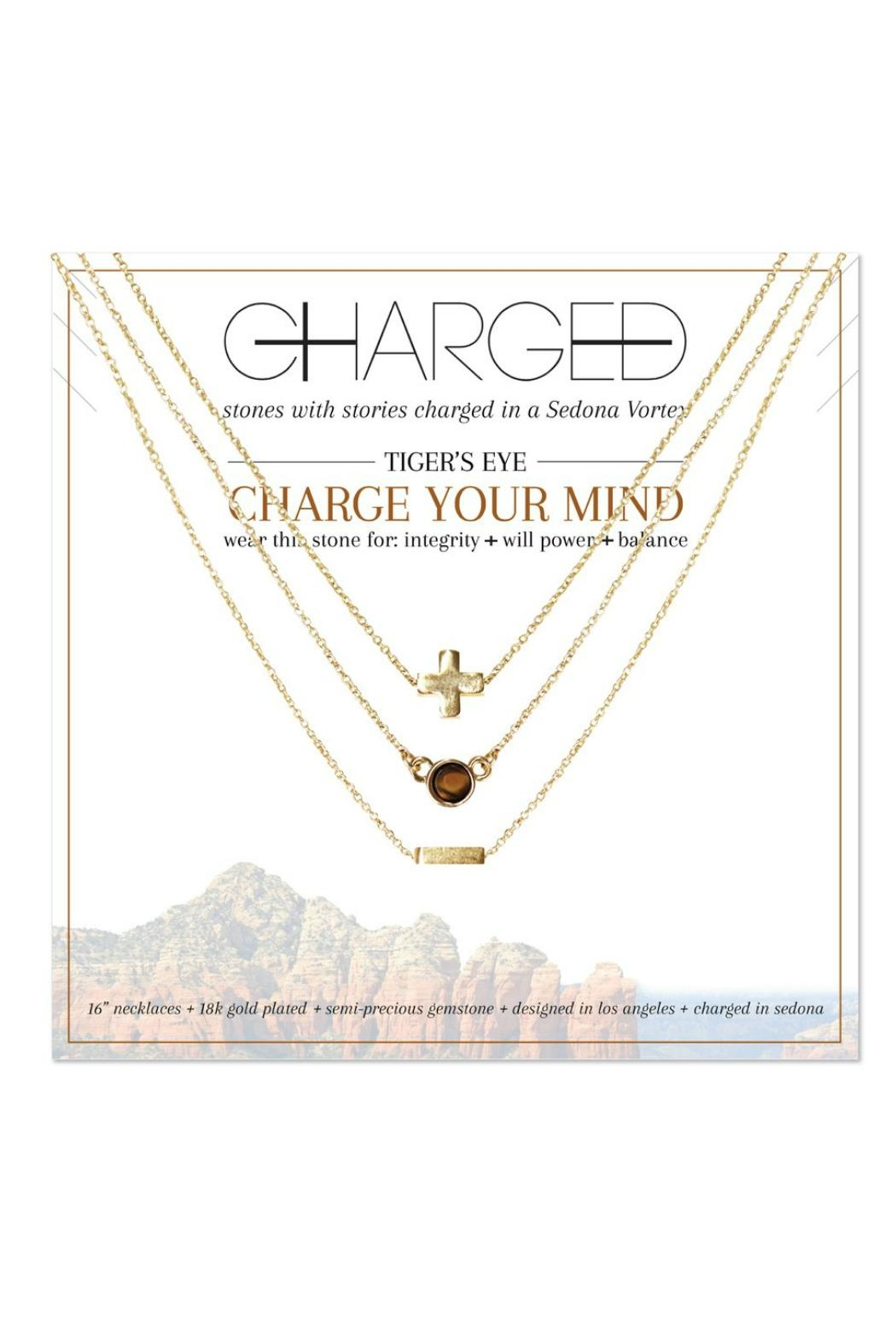 CHARGED Tiger's Eye Necklace - Main Image