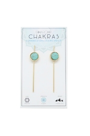 CHARGED Turquoise Chakra Earrings - Product Mini Image