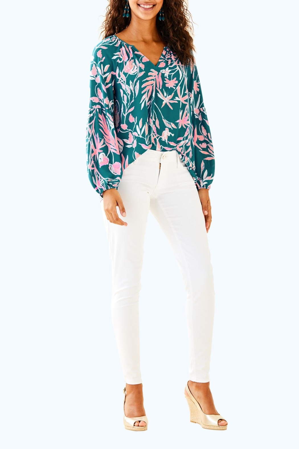 Lilly Pulitzer Charleigh Top - Side Cropped Image