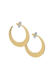 Charles Albert Crescent Gold Earrings - Front cropped