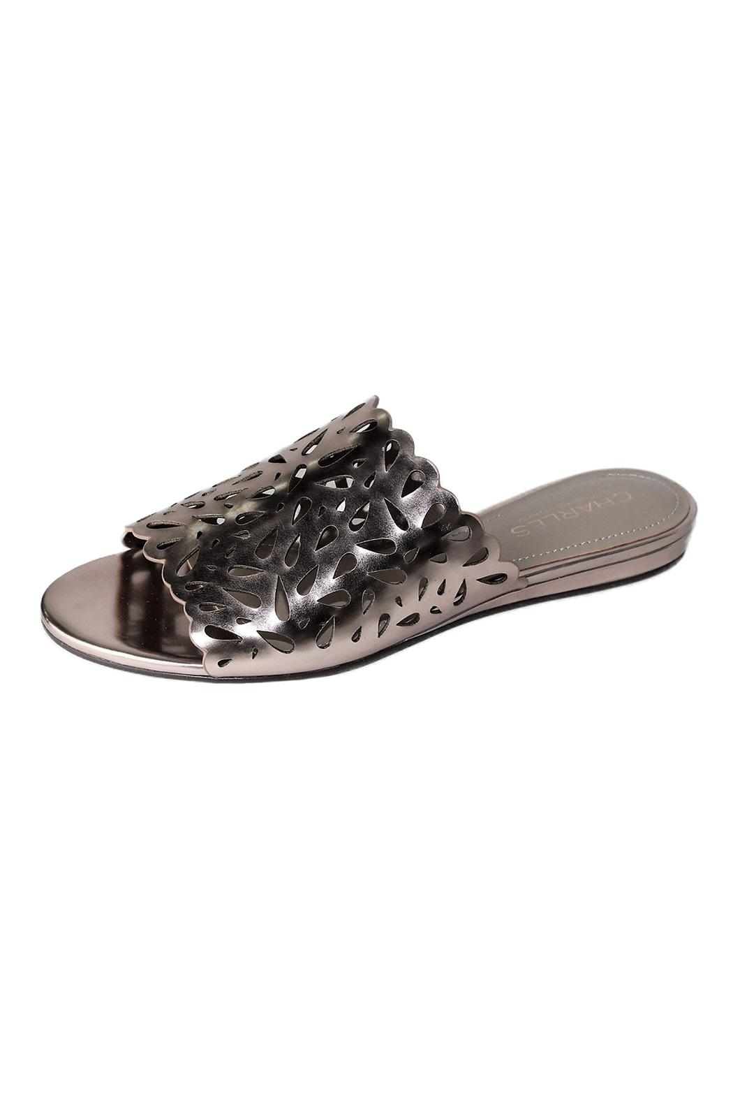 Charles By Charles David Rosegold Leather Slide - Front Cropped Image