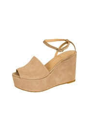 Charles David Grey Platform Sandal - Product Mini Image
