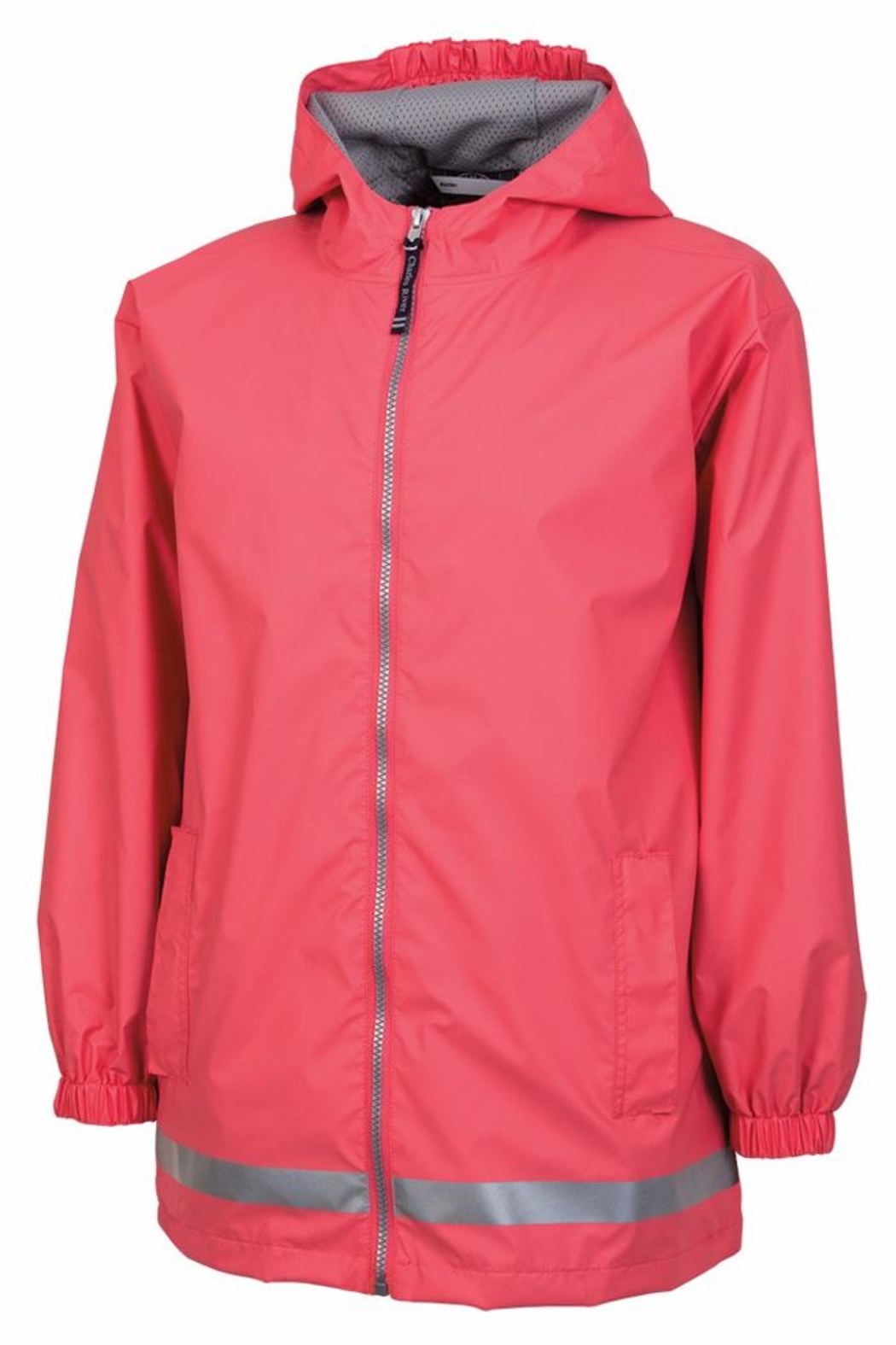 Charles River Apparel Youth Rain Jacket - Front Cropped Image