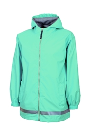 Charles River Apparel Youth Rain Jacket - Front cropped