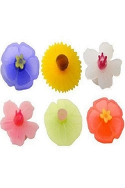 Charles Viancin Floral Drink Markers - Front cropped